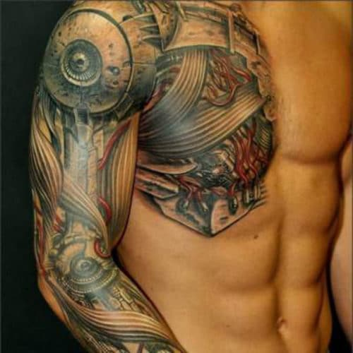 3D Chest Tattoo For Men