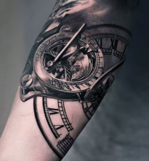 Arm Tattoos For Guys - Clock