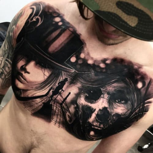 Awesome Chest Tattoo