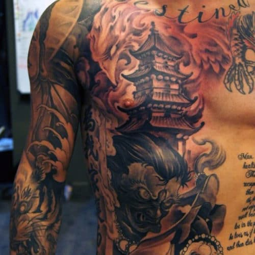 Chest Tattoo - Japanese Artwork