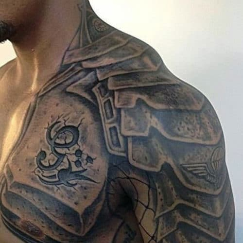 Chest to Arm Tattoos For Guys