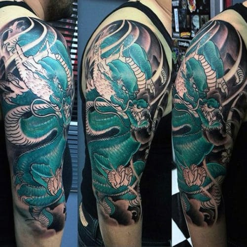 Cool Dragon Tattoo on Arm