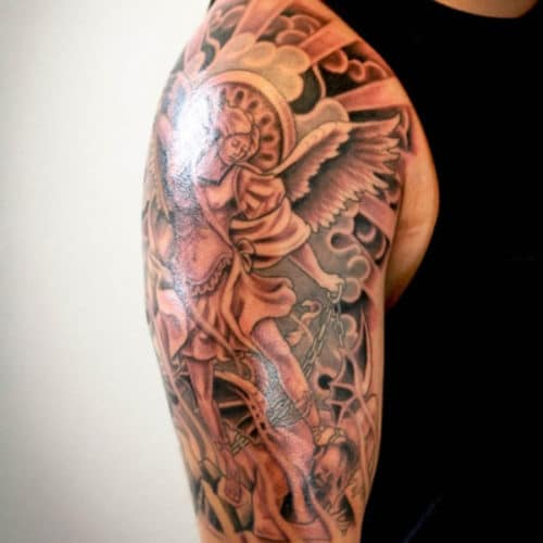 Best Angel Half Sleeve Tattoos