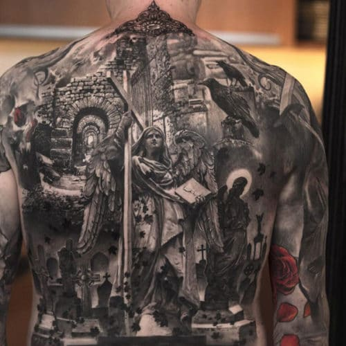 Awesome Christian Back Tattoos