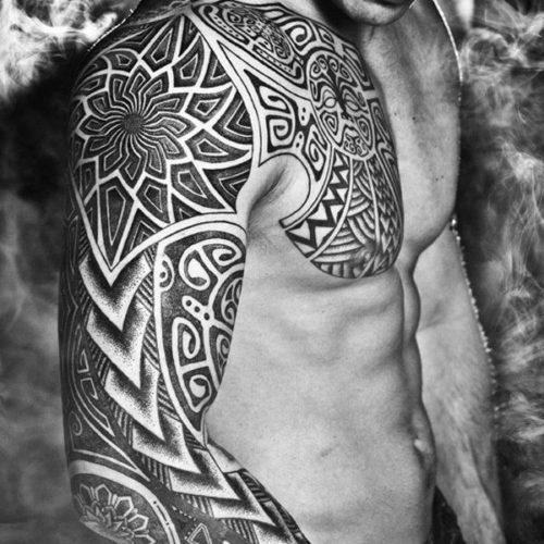 Cool Tribal Sleeve Tattoo Ideas