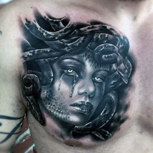 Half Chest Tattoo