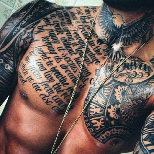 Hot Men's Chest Tattoo