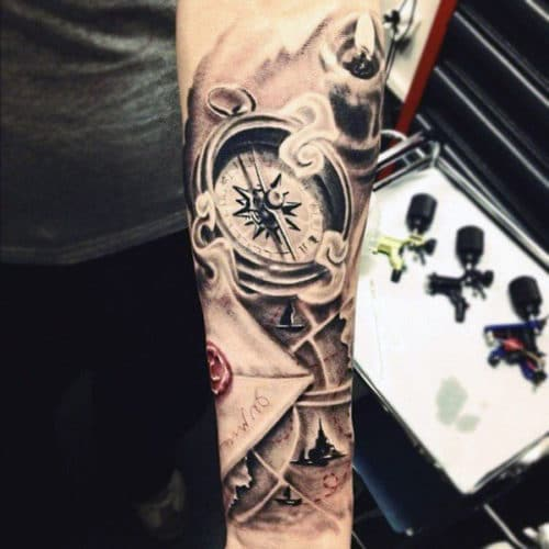 Manly Male Forearm Tattoos