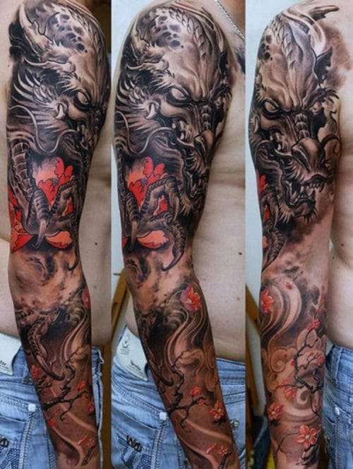 Really Cool Full Sleeve Arm Tattoo
