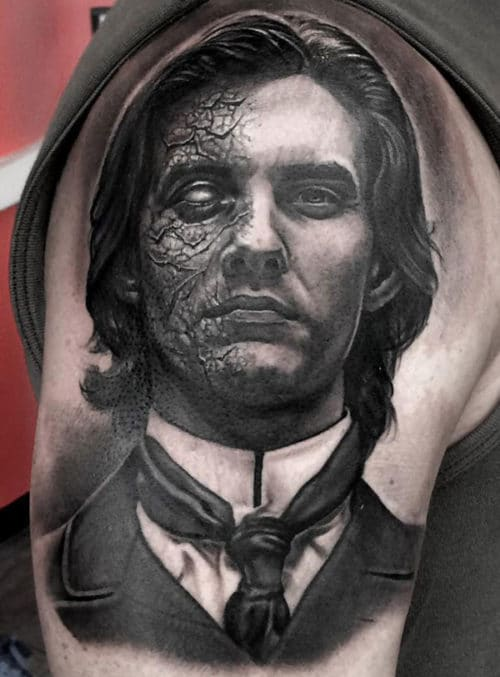 Cool Dorian Gray Shoulder Tattoo Design