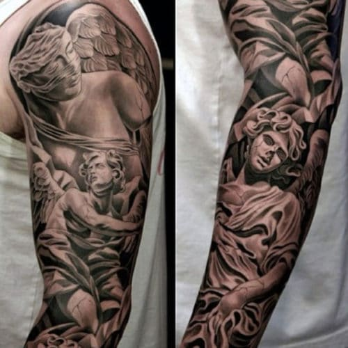 Angel Sleeve Tattoos For Guys