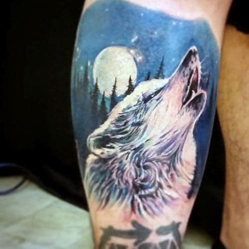 Beautiful Wolf Tattoo Designs For Guys