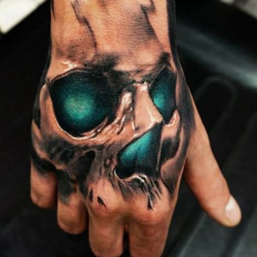 Best Hand Tattoos For Men - Skull