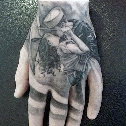 Cool Hand Tattoo Designs - Love