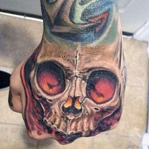 Cool Skull Tattoo on Hand
