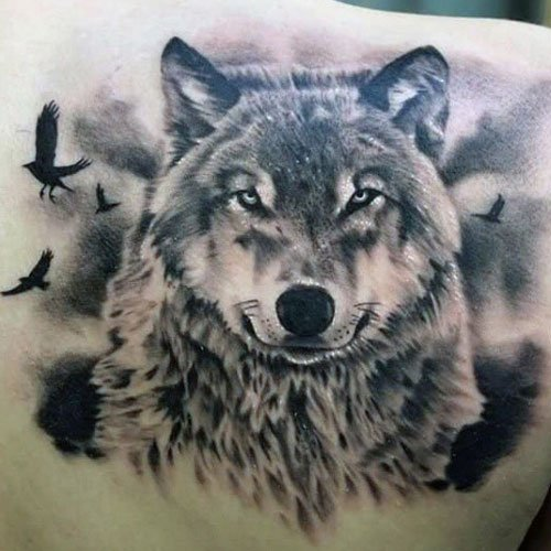 Cool Wolf Tattoos For Guys