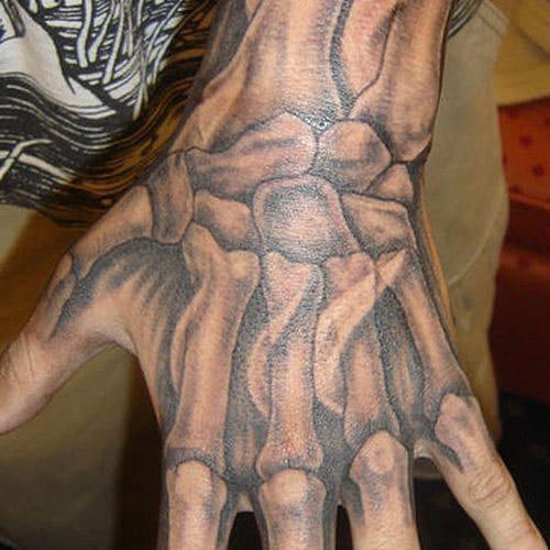 Hand Tattoo - Skeleton