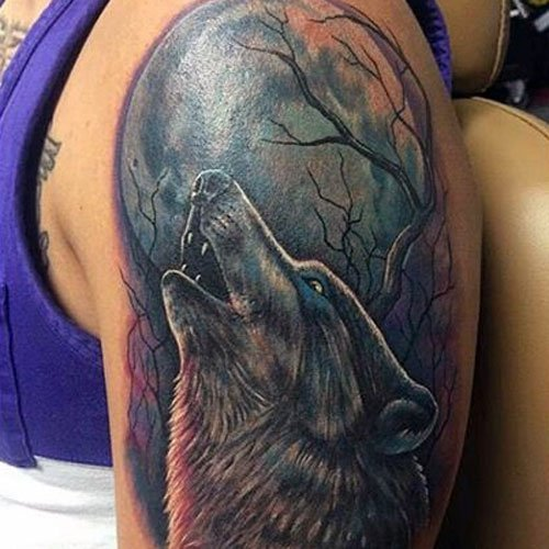 Wolf Tattoo on Sleeve