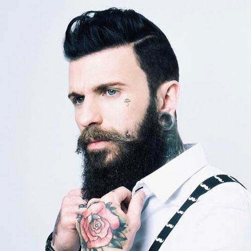 Full Beard and Tattoo