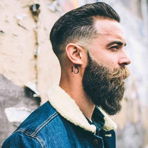 Thick Burly Beard with Fade