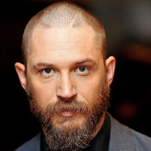Tom Hardy Beard with Shaved Head