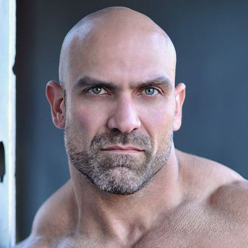 Very jamie noble shaved head with