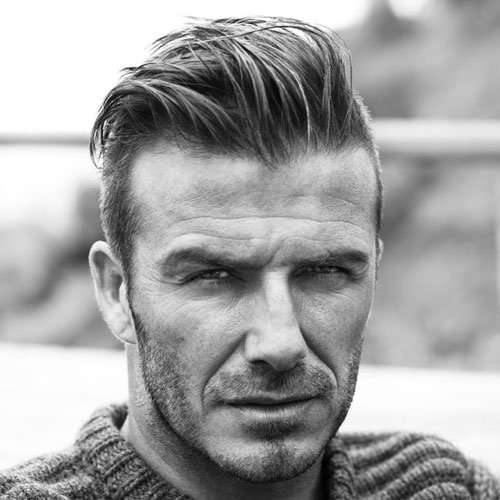 David Beckham Beard - Heavy Stubble