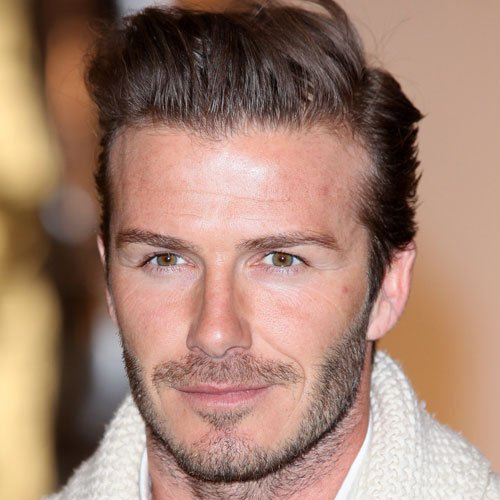 David Beckham Facial Hair Styles