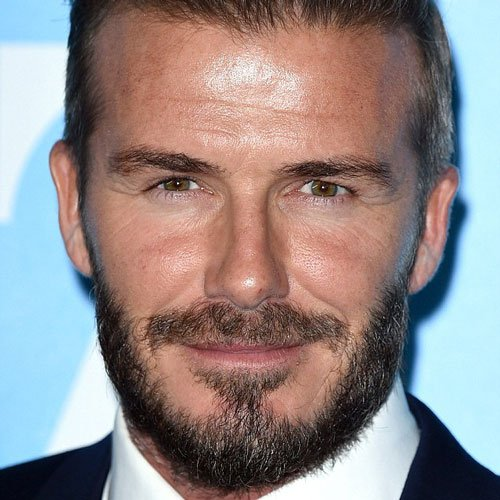 David Beckham Thick Beard Style
