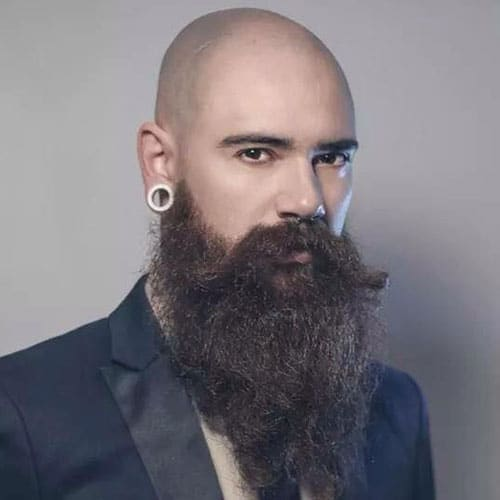 Long Beard Styles For Bald Head