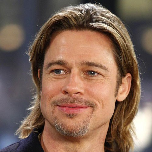 Brad Pitt Beard with Cool Long Hairstyle