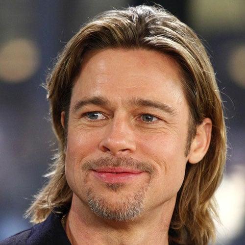 Brad Pitt Beard with Cool Long Hairstyle
