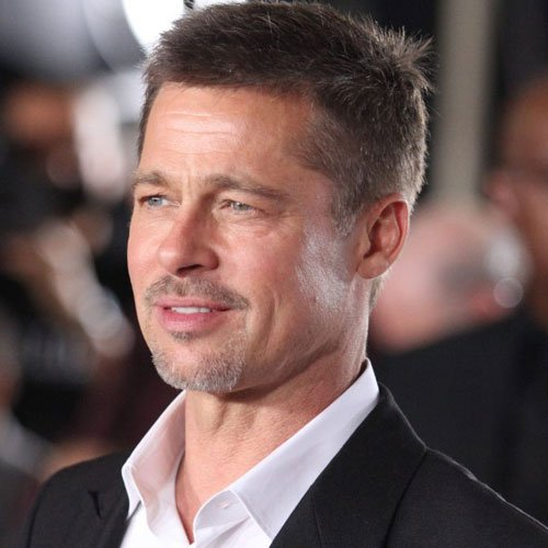 Brad Pitt Facial Hair - Crew Cut with Goatee Beard