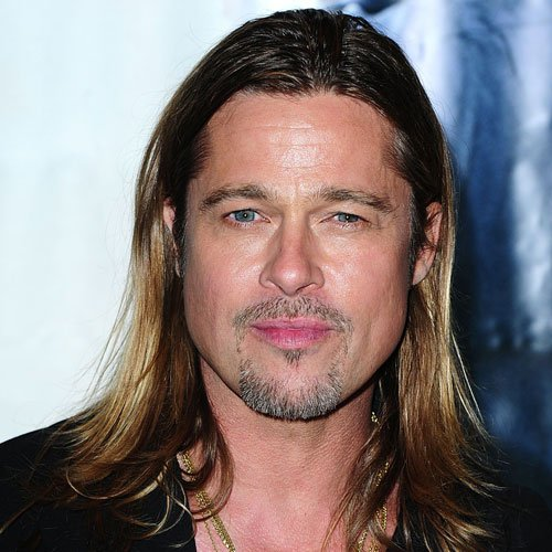 Brad Pitt Long Hair and Beard
