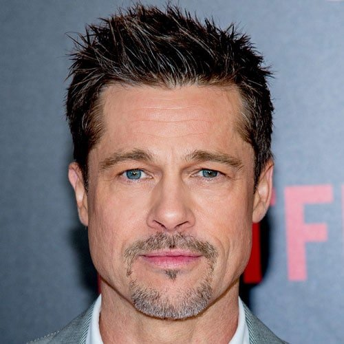 Brad Pitt Short Spiky Hair with Beard