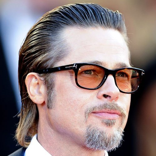 Brad Pitt - Slicked Back Hair with Cool Goatee Beard
