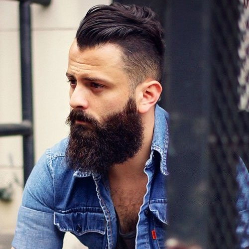 Long Beard + Cool Men's Hairstyle