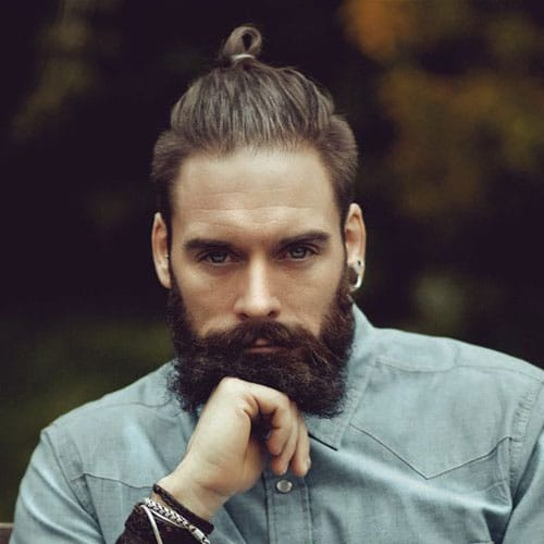 Top Knot + Full Beard