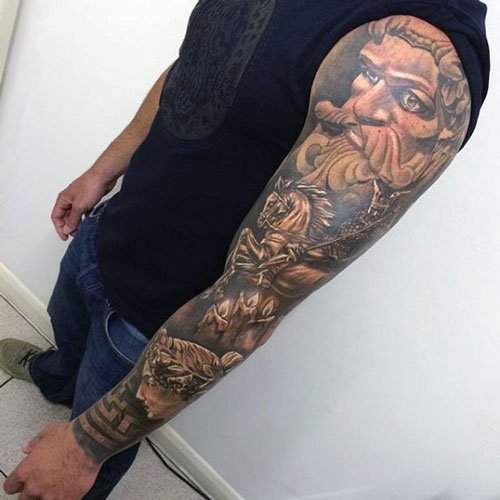 3D Sleeve Tattoos For Men