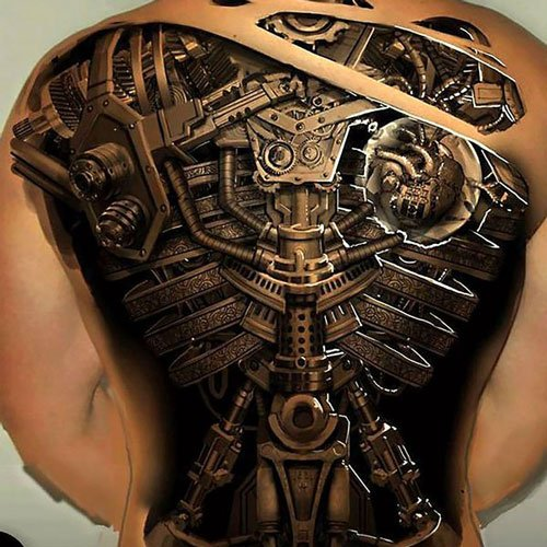 3D Tattoo Designs on Back
