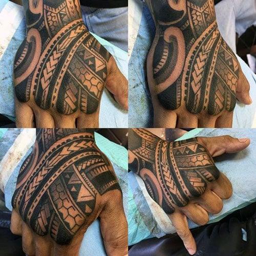 Awesome Tribal Hand Tattoo