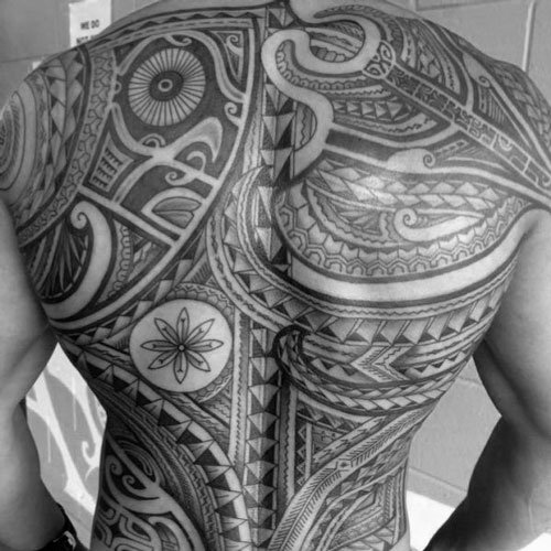 Back Tribal Tattoos