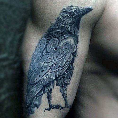 Bionic Raven Tattoo