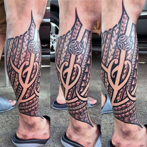 Celtic Knot Leg Tattoo