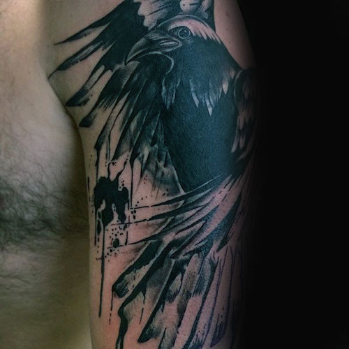 Crow Tattoo For Men