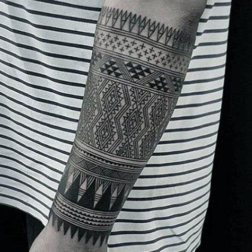 Forearm Tribal Tattoo For Men