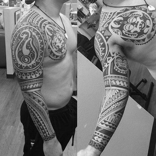 Hawaiian Tribal Arm Tattoo