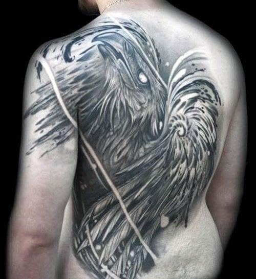 Manly Phoenix Tattoo
