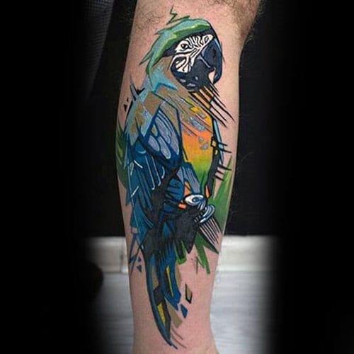 Parrot Tattoos For Men