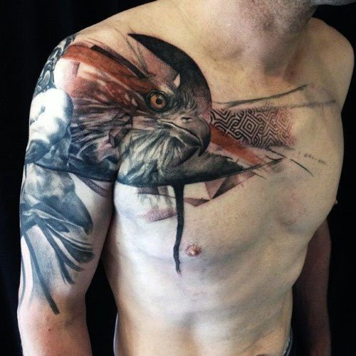 Patriotic Eagle Tattoo